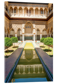 Vetro acrilico  Courtyard of the Maidens in the royal Alcazar of Seville, Spain - Matteo Colombo