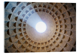 Stampa su vetro acrilico  Ceiling of the Pantheon temple, Rome - Matteo Colombo