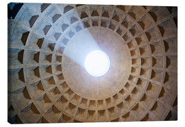 Stampa su tela  Ceiling of the Pantheon temple, Rome - Matteo Colombo