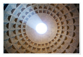 Poster Premium  Ceiling of the Pantheon temple, Rome - Matteo Colombo