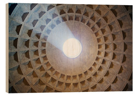 Stampa su legno  Ceiling of the Pantheon temple, Rome - Matteo Colombo