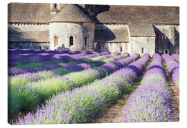 Stampa su tela  Famous Senanque abbey with its lavender field, Provence, France - Matteo Colombo