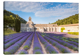 Stampa su tela  Famous Senanque abbey with lavender field, Provence, France - Matteo Colombo
