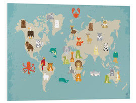 Stampa su schiuma dura  The animal world map for the nursery - Petit Griffin