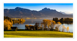 Poster Premium  Lake in Bavaria with Alps - Michael Helmer