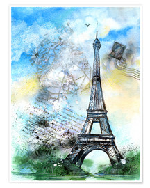 Poster  Memory of Paris - Jitka Krause