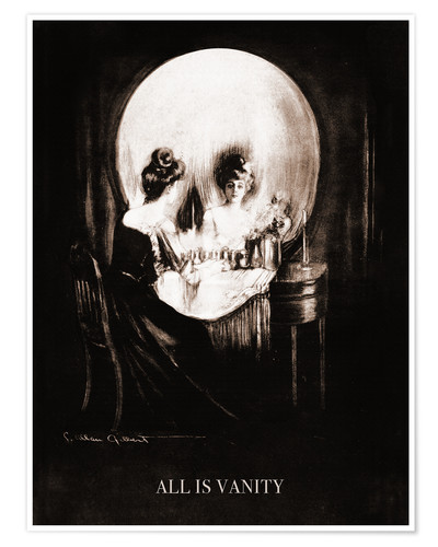 Poster All is vanity (Seppia)