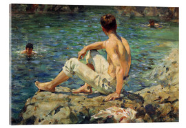 Vetro acrilico  Green and Gold - Henry Scott Tuke