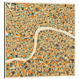 Alluminio Dibond  London Map - Jazzberry Blue