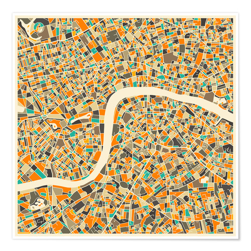 Poster London Map