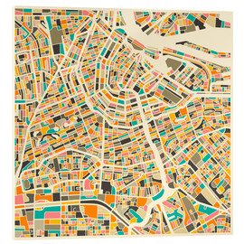 Vetro acrilico  Amsterdam Map - Jazzberry Blue