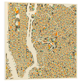 Forex  New York City Map - Jazzberry Blue