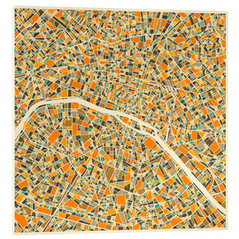Vetro acrilico  Paris Map - Jazzberry Blue