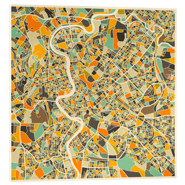 Vetro acrilico  Rome Map - Jazzberry Blue