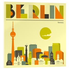 Vetro acrilico  Berlin Skyline - Jazzberry Blue
