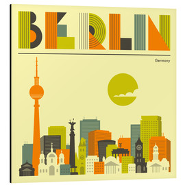 Alluminio Dibond  Skyline di Berlino - Jazzberry Blue