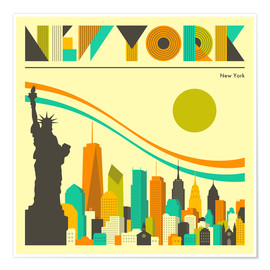 Poster Premium Skyline di New York