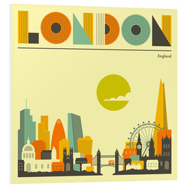 Forex  London Skyline - Jazzberry Blue