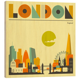 Legno  London Skyline - Jazzberry Blue