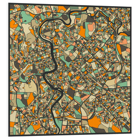 Schiuma dura  Rome Map - Jazzberry Blue
