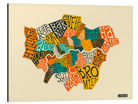 Stampa su alluminio  London Boroughs - Jazzberry Blue