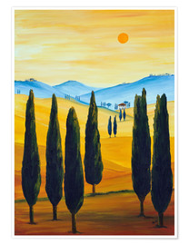 Poster Premium Longing for Tuscany