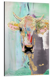 Alluminio Dibond  Cow Collage - GreenNest
