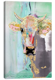 Stampa su tela  Cow Collage - GreenNest