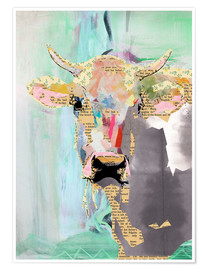 Poster  Cow Collage - GreenNest