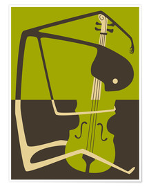 Poster Premium  Blues' Cello - Jazzberry Blue