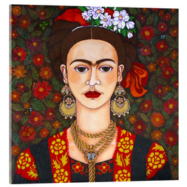 Vetro acrilico  Frida with butterflies - Madalena Lobao-Tello