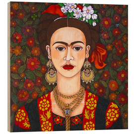 Legno  Frida with butterflies - Madalena Lobao-Tello