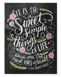 Poster Premium The Sweet Simple Things