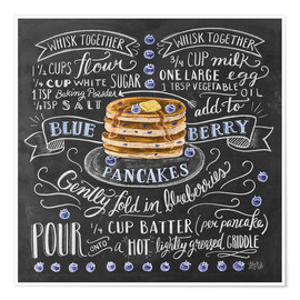 Poster  Blueberry pancakes recipe - Lily & Val