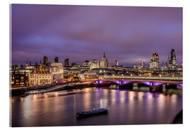 Stampa su vetro acrilico  London Skyline Night - Sören Bartosch