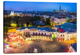 Stampa su tela  View from the Vienna Giant Ferris Wheel on the Prater - Benjamin Butschell