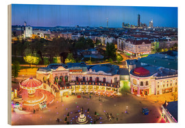Stampa su legno  View from the Vienna Giant Ferris Wheel on the Prater - Benjamin Butschell