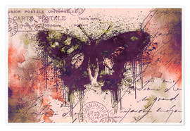 Poster Premium Crazy Butterfly