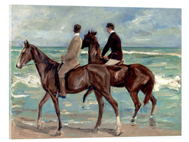 Vetro acrilico  Two riders on the beach - Max Liebermann