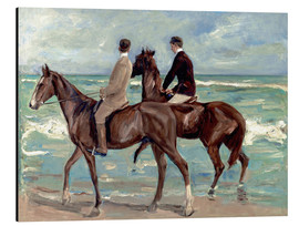 Alluminio Dibond  Two riders on the beach - Max Liebermann