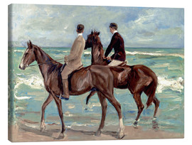 Stampa su tela  Two riders on the beach - Max Liebermann