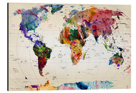 Alluminio Dibond  Map of the world - Mark Ashkenazi