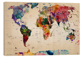 Legno  Map of the world - Mark Ashkenazi