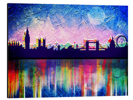 Stampa su alluminio  London in blue - Mark Ashkenazi