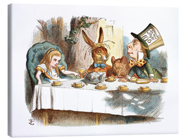 Tela  Alice in Kaffeeklatsch - John Tenniel