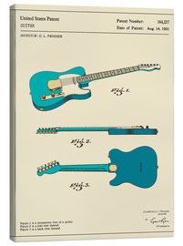 Tela  Guitar Patent (1951) - Jazzberry Blue