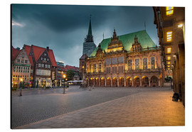 Stampa su alluminio  Bremen Market Square with City Hall - Rainer Ganske