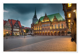 Poster Premium  Bremen Market Square with City Hall - Rainer Ganske