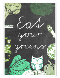 Poster Eat your greens