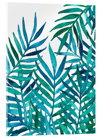 Vetro acrilico  Watercolor Palm Leaves on White - Micklyn Le Feuvre